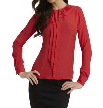 Red Colour Cool Blouse