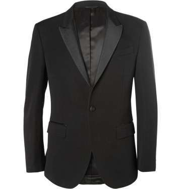 Black Slim-Fit Wool Tuxedo