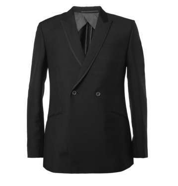 Black Mohair and Wool-Blend Tuxedo