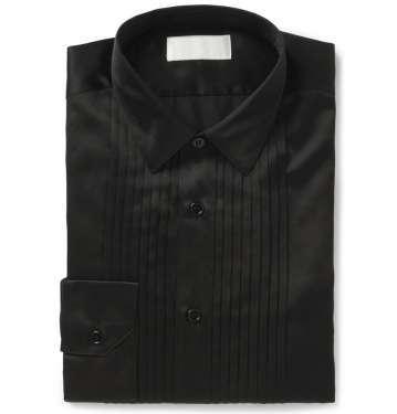 Bib-Front Silk & Cotton-Blend Dress Shirt