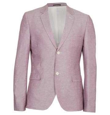 Burgundy Oxford Skinny Jacket