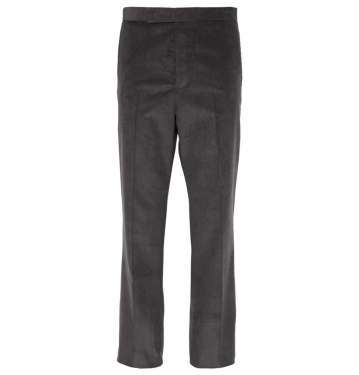 Gray Corduroy Trouser