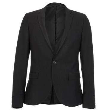 Black Snake Printed Skinny Jacket