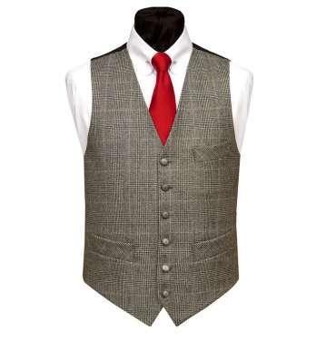 Check Wool Waistcoat