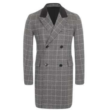 Double Checked Cashmere Coat
