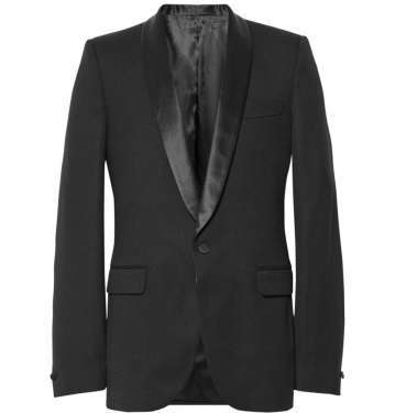 Fit Satin-Trimmed Wool Tuxedo