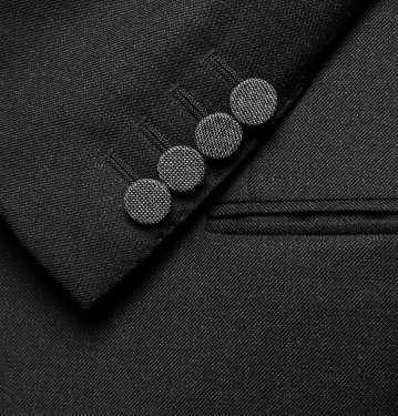 Contrast-Lapel Wool Tuxedo