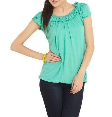 Green Colour Blouse
