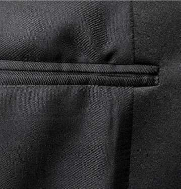 Black Wool-Blend Tuxedo