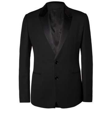 Black 3 Piece Wool-Blend Tuxedo