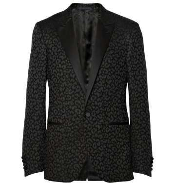 Leopard Jacquard Tuxedo