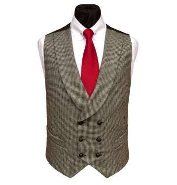 Shawl Collar Double Breasted Waistcoat