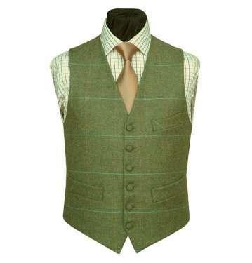 Checked Tweed Waistcoat