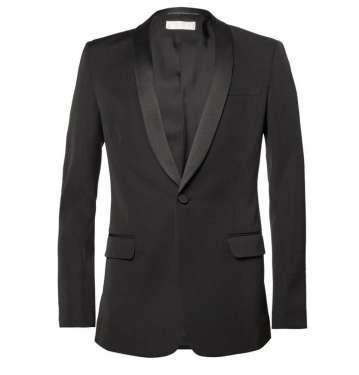 Black Slim Wool Tuxedo