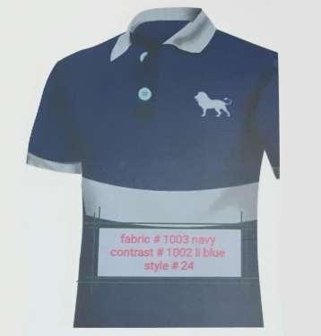 Fabric 1003 Navy Contrast 1002 Li Blue Style 24
