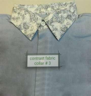 Contrast Fabric Collar 3